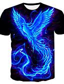 billige Trendy belter-Rund hals Store størrelser T-skjorte Herre - Fargeblokk Navyblå / Kortermet
