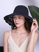 ราคาถูก หมวกสตรี-สำหรับผู้หญิง สีพื้น ฝ้าย เส้นใยสังเคราะห์ ซึ่งทำงานอยู่ พื้นฐาน สไตล์น่ารัก-ดวงอาทิตย์หมวก ฤดูใบไม้ผลิ ฤดูร้อน สีน้ำเงินกรมท่า สีเทา สีกากี