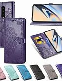 Χαμηλού Κόστους Θήκες / Καλύμματα για το Oneplus-tok Για OnePlus OnePlus 6 / One Plus 6T / Ένα συν 7 Πορτοφόλι / Θήκη καρτών / Ανθεκτική σε πτώσεις Πλήρης Θήκη Μονόχρωμο / Λουλούδι Σκληρή PU δέρμα