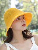 Χαμηλού Κόστους Καπέλα του μπέιζμπολ-Γυναικεία Μονόχρωμο Ενεργό Βασικό χαριτωμένο στυλ Βαμβάκι Πολυεστέρας Καπέλο ηλίου Άνοιξη Καλοκαίρι Κίτρινο Ανοικτό Καφέ Χακί
