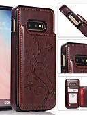 povoljno Maske za mobitele-Θήκη Za Samsung Galaxy S9 / S9 Plus / S8 Plus Utor za kartice / Otporno na trešnju / sa stalkom Stražnja maska Jednobojni Tvrdo PU koža / PC