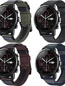 ราคาถูก วง Smartwatch-สายนาฬิกา สำหรับ Huami Amazfit A1602 / นาฬิกา Huami Amazfit Pace / Huami Amazfit Stratos Smart Watch 2/2S Xiaomi สายยางสำหรับเส้นกีฬา หนัง / ไนลอน สายห้อยข้อมือ