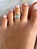 ราคาถูก ชุดว่ายน้ำและบิกินีผู้หญิง-สำหรับผู้หญิง แหวน เรซิ่น 1pc สีทอง สีเงิน โลหะผสม วินเทจ โบโฮ Small ทุกวัน ฮอลิเดย์ เครื่องประดับ สไตล์วินเทจ Leaf Shape Heart