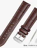 baratos Faixa de relógio de couro-substituição tissot 1853 relógio de couro dos homens com locke couro das mulheres casios longines pulseira acessórios 12/14/16 / 18mm
