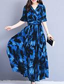 baratos Vestidos Suéter-Mulheres Moda de Rua Sofisticado Reto balanço Vestido Floral Xadrez Longo