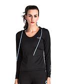 ราคาถูก ชุด-สำหรับผู้หญิง Sweatshirtและมีฮู้ด แฟชั่น วิ่ง การออกกำลังกาย Hoodie แขนยาว ชุดทำงาน Lightweight แห้งเร็ว นุ่ม Sweat-wicking ยืด