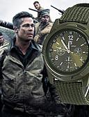 Χαμηλού Κόστους Αθλητικό Ρολόι-Ανδρικά Στρατιωτικό Ρολόι Ρολόι κυνηγιού Χαλαζίας Νάιλον Μαύρο / Μπλε / Πράσινο 30 m Νεό Σχέδιο Καθημερινό Ρολόι Αναλογικό Καθημερινό Μοντέρνα - Μαύρο Πράσινο Μπλε Ενας χρόνος Διάρκεια Ζωής Μπαταρίας