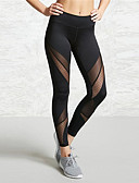ราคาถูก เลกกิ้ง-สำหรับผู้หญิง เอวสูง กางเกงโยคะ ลายต่อ สีดำ ตารางไขว้ Elastane วิ่ง การออกกำลังกาย ยิมออกกำลังกาย ถุงน่องการขี่จักรยาน เลกกิ้ง กีฬา ชุดทำงาน แห้งเร็ว Butt Lift Tummy Control Power Flex ความยืดหยุ่นสูง