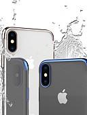 זול מגנים לטלפון-מגן עבור Apple iPhone XS / iPhone XR / iPhone XS Max עמיד בזעזועים / ציפוי / שקוף כיסוי אחורי אחיד / שקוף רך TPU
