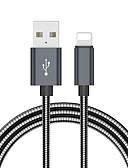 Χαμηλού Κόστους Κοστούμια-Φωτισμός Καλώδιο 2.0m (6.5Ft) Πλεκτό Αλουμίνιο Προσαρμογέας καλωδίου USB Για iPad / iPhone