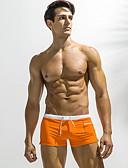 ราคาถูก ชุดว่ายน้ำผู้ชาย-สำหรับผู้ชาย ขนาดของยุโรป / อเมริกา ทับทิม สีน้ำเงินกรมท่า สีฟ้า กางเกงว่ายน้ำ ชุดว่ายน้ำ - สีพื้น XL XXL XXXL ทับทิม