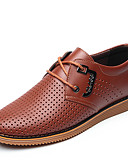 ราคาถูก เสื้อโปโลสำหรับผู้ชาย-สำหรับผู้ชาย สไตล์อินเดียนแดง Synthetics ตก / ฤดูร้อนฤดูใบไม้ผลิ ธุรกิจ / ไม่เป็นทางการ รองเท้าส้นเตี้ยทำมาจากหนังและรองเท้าสวมแบบไม่มีเชือก ระบายอากาศ สีดำ / สีน้ำตาล / สำนักงานและอาชีพ