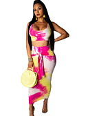זול חליפות שני חלקים לנשים-חצאית גיאומטרי - עליונית טנק רזה בגדי ריקוד נשים
