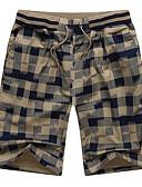 ราคาถูก ชุดว่ายน้ำผู้ชาย-สำหรับผู้ชาย พื้นฐาน กางเกงขาสั้น กางเกง - ลายสก๊อต / ลายตาราง สีน้ำเงิน ใบไม้สีเขียวที่มีสามแฉก ทับทิม XXXL XXXXL XXXXXL