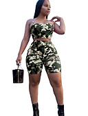 זול חליפות שני חלקים לנשים-קולר מכנס דפוס, קשת - עליונית טנק קצר משוחרר בגדי ריקוד נשים