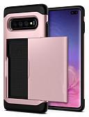 billige Samsung-tilbehør-Etui Til Samsung Galaxy S9 / S9 Plus / S8 Plus Kortholder / Støtsikker Bakdeksel Ensfarget Hard PC