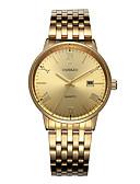 זול שעונים-בגדי ריקוד גברים פלדת אל חלד קווארץ שחור / לבן / זהב 50 m יצירתי זורח עיצוב חדש אנלוגי קלסי יום יומי - זהב לבן שחור שנתיים חיי סוללה