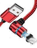 """זול כבל & מטענים iPhone-הברק כבל USB מתאם קל / כבל טעינה מהירה עבור iPhone 100 ס""""מ עבור אצטט / ניילון / אור"""