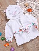 ราคาถูก เสื้อผ้าสำหรับเด็กทารกผู้หญิง-ทารก เด็กผู้หญิง ลายพิมพ์ ฝ้าย ชุดนอน ขาว / Toddler