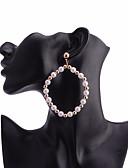 ราคาถูก โค้ท & เทรนช์โค้ทผู้หญิง-สำหรับผู้หญิง สีทอง ไข่มุก Drop Earrings ทางเรขาคณิต เกี่ยวกับยุโรป ไข่มุก ต่างหู เครื่องประดับ สีทอง สำหรับ ทุกวัน 1 คู่