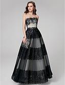 זול שמלות נשף-גזרת A סטרפלס עד הריצפה תחרה ערב רישמי שמלה עם תחרה משולבת על ידי TS Couture®