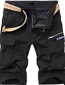 ราคาถูก กางเกงผู้ชาย-สำหรับผู้ชาย พื้นฐาน เพรียวบาง กางเกงขาสั้น กางเกง - สีพื้น สีดำ อาร์มี่ กรีน สีกากี 38 35 42