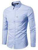 povoljno Muške košulje-Majica Muškarci - Osnovni Škola / Dnevni Nosite Jednobojni Navy Plava