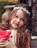 Χαμηλού Κόστους Φορέματα για κορίτσια-Νήπιο Κοριτσίστικα Βασικό / Γλυκός Κυρ Λουλούδι Φλοράλ Άνθινο Στυλ Δαντέλα Αξεσουάρ Μαλλιών Ασημί Ένα Μέγεθος