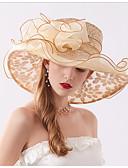 ราคาถูก หมวกสตรี-สำหรับผู้หญิง ลายดอกไม้ ชิฟฟอน ลูกไม้ ปาร์ตี้ ซึ่งทำงานอยู่ สไตล์น่ารัก-หมวกปีกกว้าง ดวงอาทิตย์หมวก ทุกฤดู ผ้าขนสัตว์สีธรรมชาติ สีเทา สีกากี
