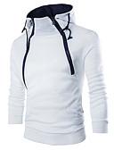 Χαμηλού Κόστους Αντρικές Μπλούζες με Κουκούλα & Φούτερ-Ανδρικά Καθημερινό Λεπτό Πουλόβερ - Μονόχρωμο Στρογγυλή Λαιμόκοψη
