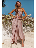 זול שמלות שושבינה-גזרת A קולר א-סימטרי שיפון שמלה לשושבינה  עם סרט על ידי LAN TING Express