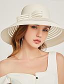 ราคาถูก หมวกสตรี-สำหรับผู้หญิง ลายดอกไม้ ชิฟฟอน ลูกไม้ ปาร์ตี้ ซึ่งทำงานอยู่ สไตล์น่ารัก-หมวกปีกกว้าง ดวงอาทิตย์หมวก ทุกฤดู ขาว สีดำ สีกากี