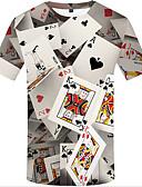 Χαμηλού Κόστους Ανδρικά μπλουζάκια και φανελάκια-Ανδρικά Μεγάλα Μεγέθη T-shirt 3D Στρογγυλή Λαιμόκοψη Στάμπα Ουράνιο Τόξο