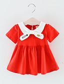 זול אוברולים טריים לתינוקות לבנים-שמלה כותנה עד הברך שרוולים קצרים טלאים / רקום טלאים פעיל / בסיסי בנים תִינוֹק / פעוטות