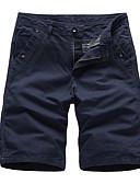 ราคาถูก กางเกงผู้ชาย-สำหรับผู้ชาย พื้นฐาน กางเกงขาสั้น กางเกง - สีพื้น สีเทา อาร์มี่ กรีน สีกากี 34 36 38