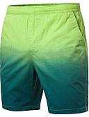 ราคาถูก กางเกงผู้ชาย-สำหรับผู้ชาย พื้นฐาน กางเกง Chinos / กางเกงขาสั้น กางเกง - หลายสี สีเหลือง สีเขียวอ่อน สีฟ้า XXL XXXL XXXXL