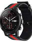 ราคาถูก วง Smartwatch-สายนาฬิกา สำหรับ นาฬิกา Huami Amazfit Pace / Huami Amazfit Stratos Smart Watch 2/2S Xiaomi สายยางสำหรับเส้นกีฬา ไนลอน / หนังแท้ สายห้อยข้อมือ