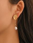 ราคาถูก กระโปรงผู้หญิง-สำหรับผู้หญิง Drop Earrings ต่างหูห้อย ที่ไม่ตรงกัน คลาสสิก วินเทจ เกี่ยวกับยุโรป ไข่มุก ต่างหู เครื่องประดับ สีทอง สำหรับ ปาร์ตี้ ทุกวัน Street ทำงาน 1 คู่