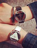 ราคาถูก ชุดเดรสพิมพ์ลาย-สำหรับผู้หญิง นาฬิกาควอตส์ นาฬิกาอิเล็กทรอนิกส์ (Quartz) PU Leather ดำ / สีขาว นาฬิกาใส่ลำลอง ระบบอนาล็อก แฟชั่น - ขาว สีดำ สีดำ / สีเงิน หนึ่งปี อายุการใช้งานแบตเตอรี่ / สแตนเลส