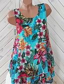 ราคาถูก เสื้อผู้หญิง-สำหรับผู้หญิง เสื้อสตรี ลายดอกไม้ สีม่วง