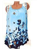 ราคาถูก เสื้อยืดสำหรับสุภาพสตรี-สำหรับผู้หญิง เสื้อเชิร์ต ลายพิมพ์ รูปเรขาคณิต สีม่วง