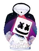 billige Pikekjoler-Barn Baby Gutt Grunnleggende Trykt mønster Trykt mønster Langermet Hettegenser og sweatshirt Regnbue