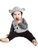 זול לבנים סטים של ביגוד לתינוקות-סט של בגדים כותנה שרוול ארוך דפוס דפוס יום יומי / פעיל בנים תִינוֹק / פעוטות