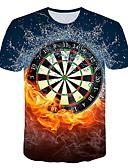 Χαμηλού Κόστους Ανδρικά μπλουζάκια και φανελάκια-Ανδρικά T-shirt Γραφική Στρογγυλή Λαιμόκοψη Θαλασσί