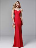 ราคาถูก ชุดเพื่อนเจ้าสาว-ทรัมเป็ต / เมอร์เมด Illusion Neckline ลากพื้น ไลคร่า Prom / ทางการ แต่งตัว กับ ของประดับด้วยลูกปัด โดย TS Couture®