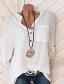 povoljno Majica-Majica s rukavima Žene Dnevni Nosite Jednobojni V izrez Blushing Pink / Proljeće / Ljeto / Jesen / Zima