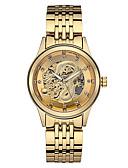 זול שעונים מכאניים-בגדי ריקוד גברים פלדת אל חלד אוטומטי נמתח לבד סגנון פורמלי מסוגנן זהב 30 m עמיד במים זוהר בחושך מגניב אנלוגי פאר אופנתי - זהב זהב + שחור מוזהב לבן