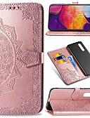 baratos Acessórios para Samsung-Capinha Para Samsung Galaxy Galaxy A7(2018) / Galaxy A9(2018) / Galáxia A10 (2019) Carteira / Porta-Cartão / Flip Capa Proteção Completa Flor Rígida PU Leather / TPU