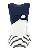 povoljno Majice-Majčinski Potkošulja Žene - Donje rublje Prugasti uzorak / Color block Čipka / Kolaž Crn