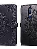 ราคาถูก เคสสำหรับโทรศัพท์มือถือ-Case สำหรับ โทรศัพท์ Nokia Nokia 5.1 Card Holder / Flip ตัวกระเป๋าเต็ม สีพื้น Hard หนัง PU